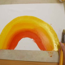 """Touring schools in Oppland County, Norway with a """"Rainbow Workshop"""" and my """"Picturebook Exhibition"""" (part 3)"""