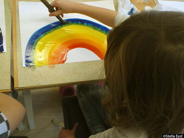 """Touring schools in Oppland County, Norway with a """"Rainbow Workshop"""" and my """"Picturebook Exhibition"""" (part 4)"""