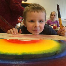 """Touring schools in Oppland County, Norway with a """"Rainbow Workshop"""" and my """"Picturebook Exhibition"""" (part 2)"""